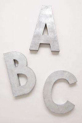 Oversized Zinc Letters