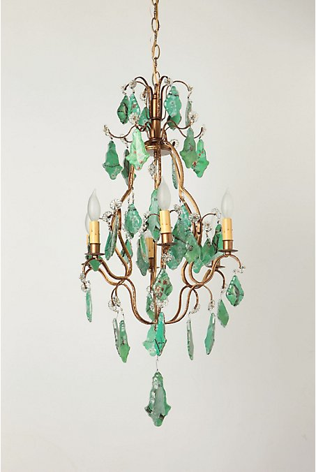 Bird & Branch Decoupage Chandelier - Anthropologie.com :  lamp apartment boho princess