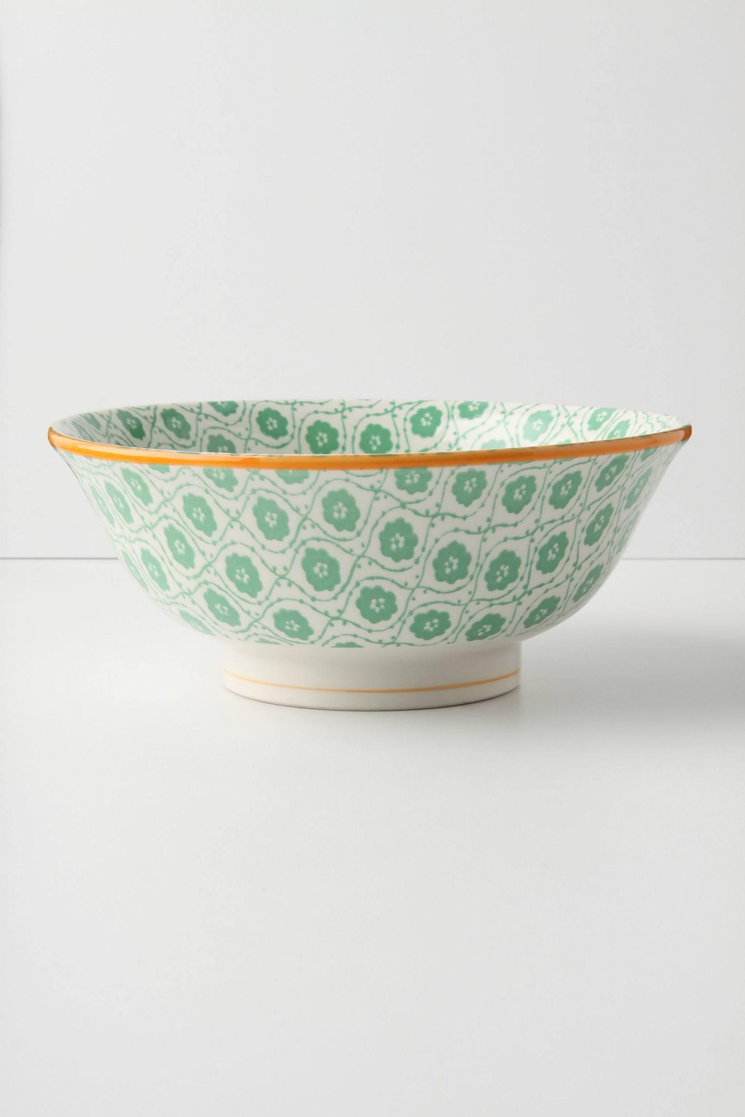 Atom Art Serving Bowl, Green