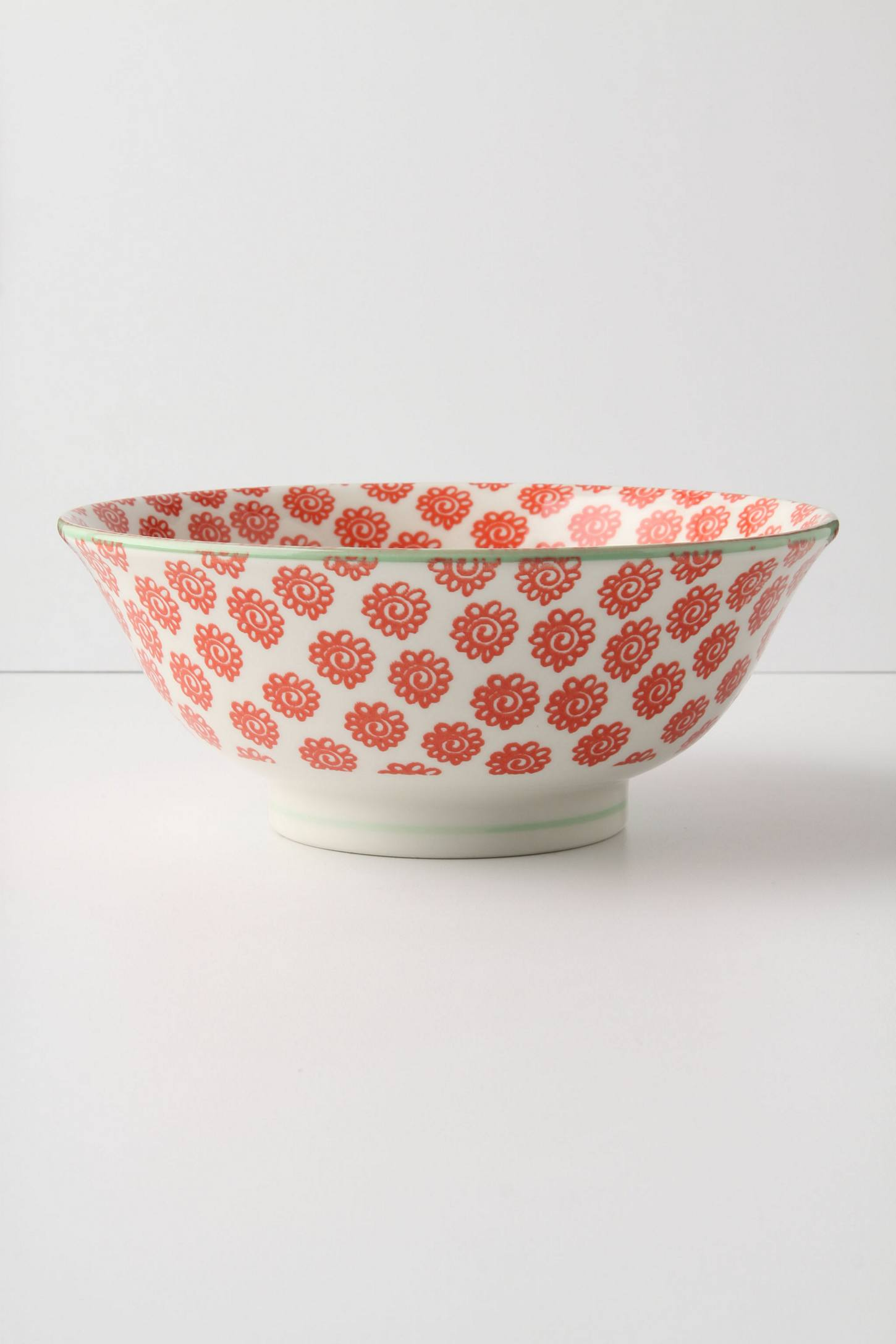 Atom Art Serving Bowl, Red