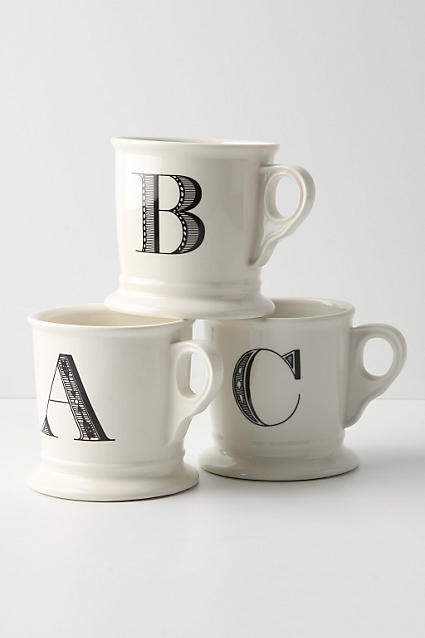 Love these monogrammed mugs