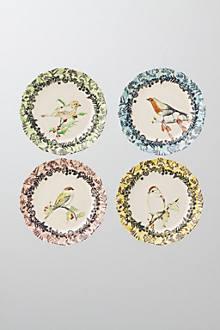 Birdwatcher's Dessert Plates from anthropologie.com
