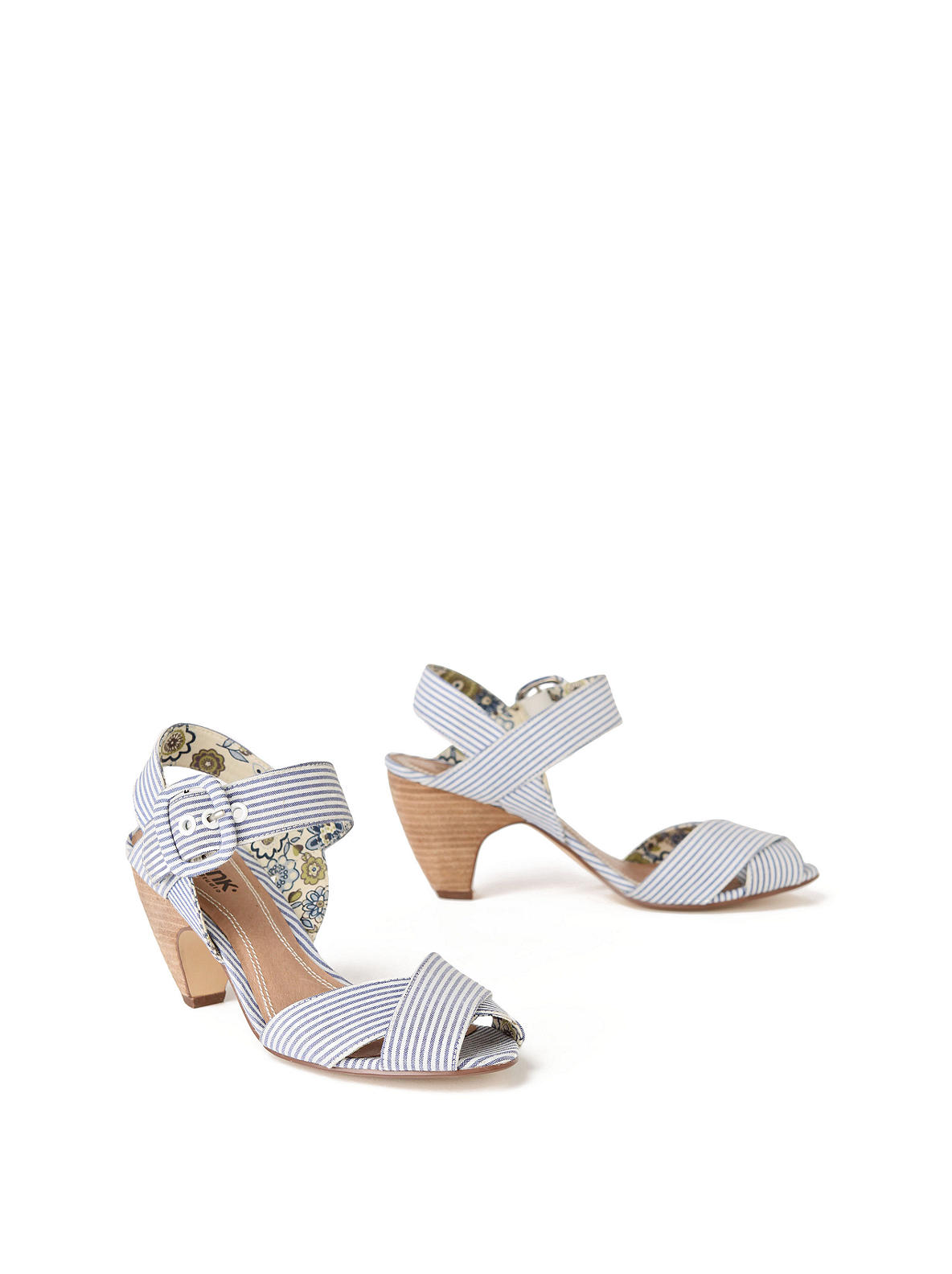 Sailor-Striped Heels - Anthropologie.com :  spring heels shoe sailor