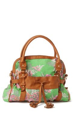Zowie Zinnia Tote - Anthropologie.com :  floral pockets brown grey