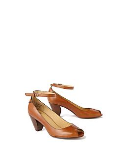 Anthropologie.com > Colombard Heels :  cognac ankle straps heels anthropologie