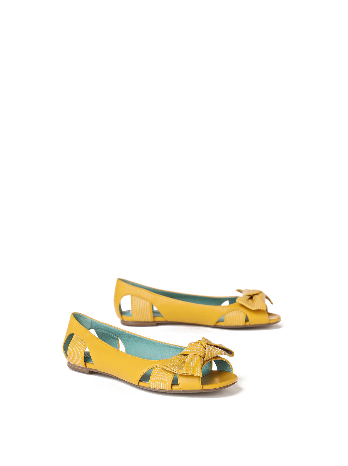 For You Flats - Anthropologie.com :  bow yellow retro flats