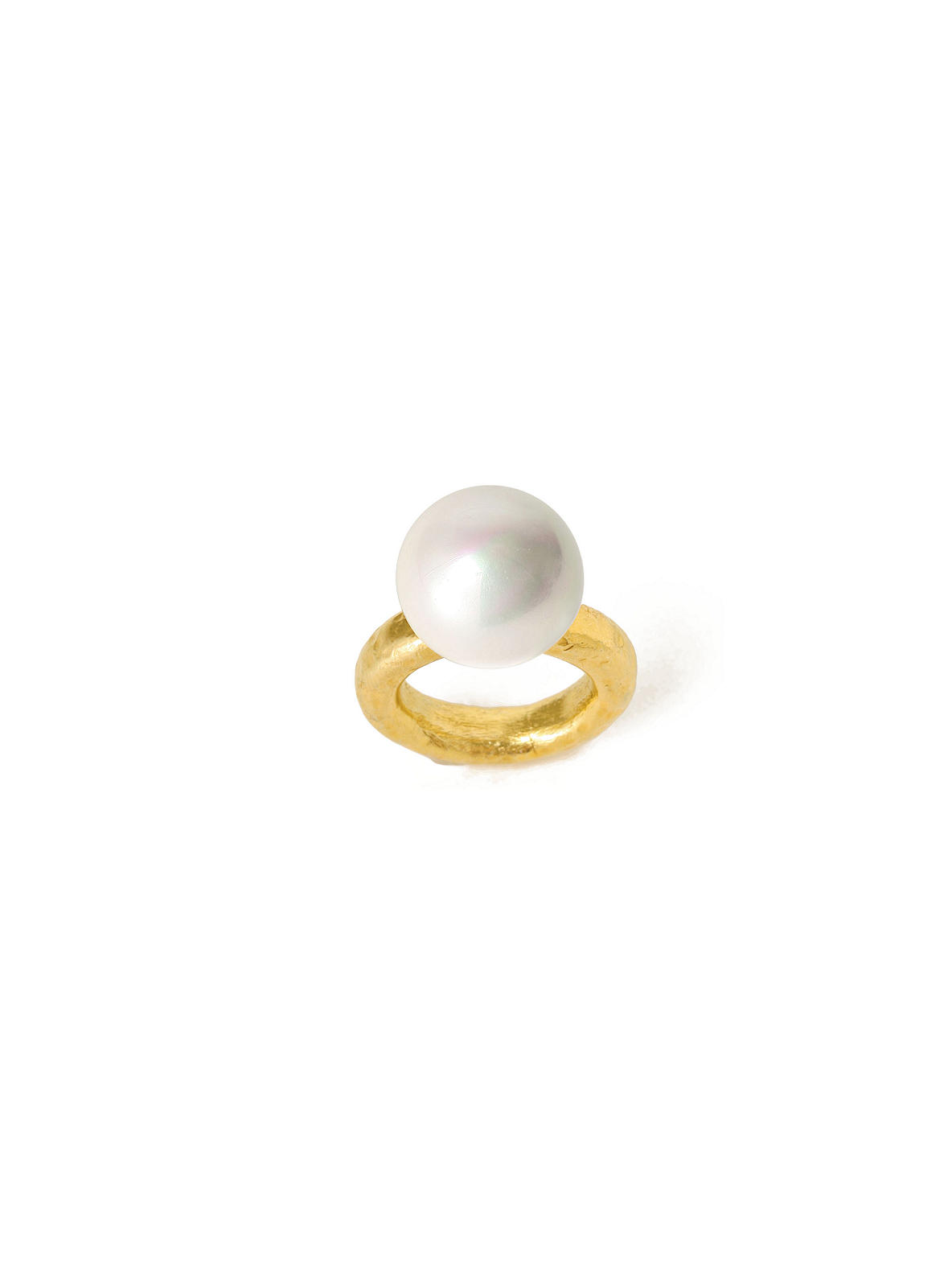 Poised Polish Ring, Pearl - Anthropologie.com from anthropologie.com