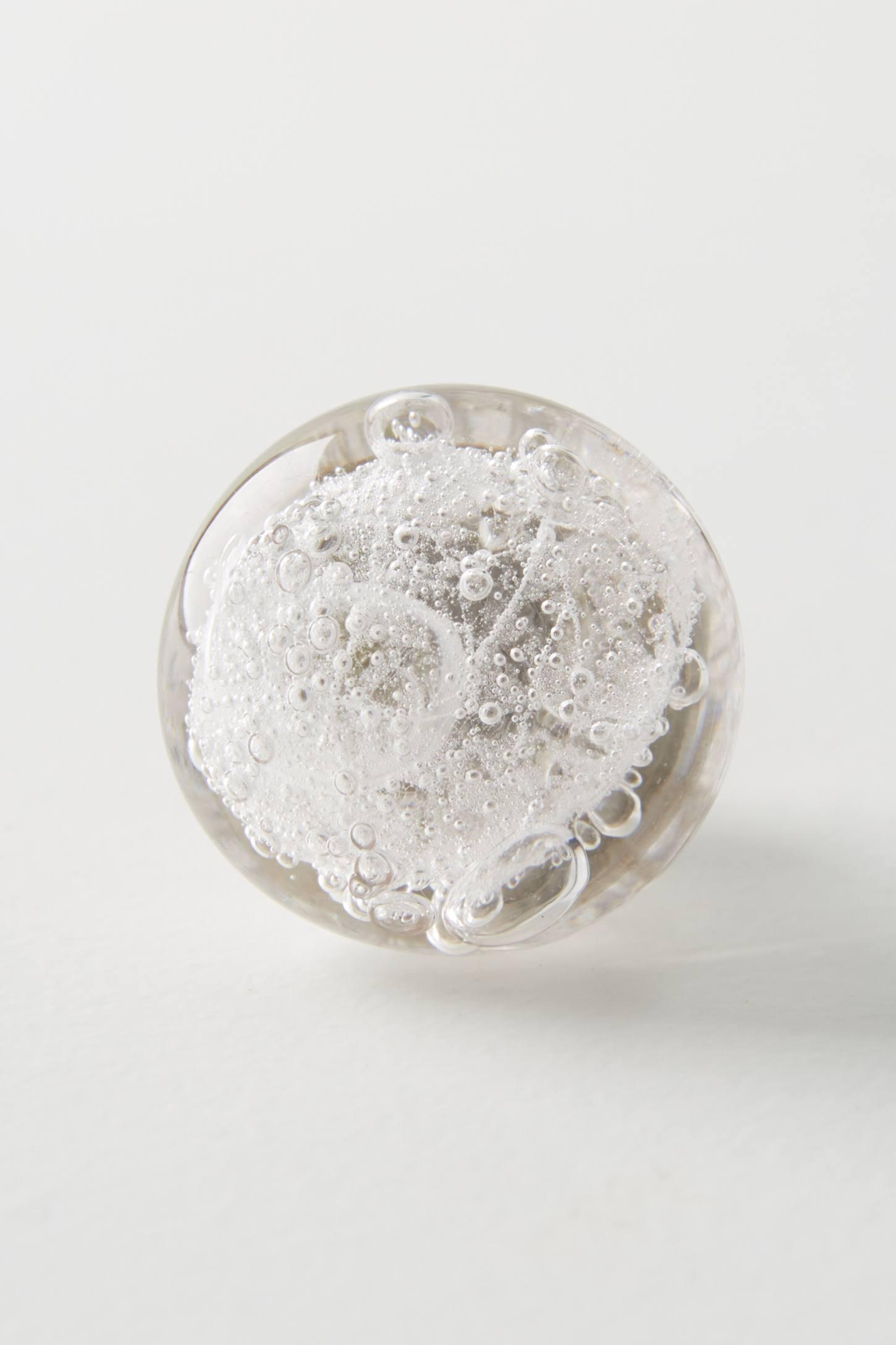 Bubbled Glass Knob