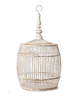 Bamboo Birdcage, Barrel - Anthropologie.com