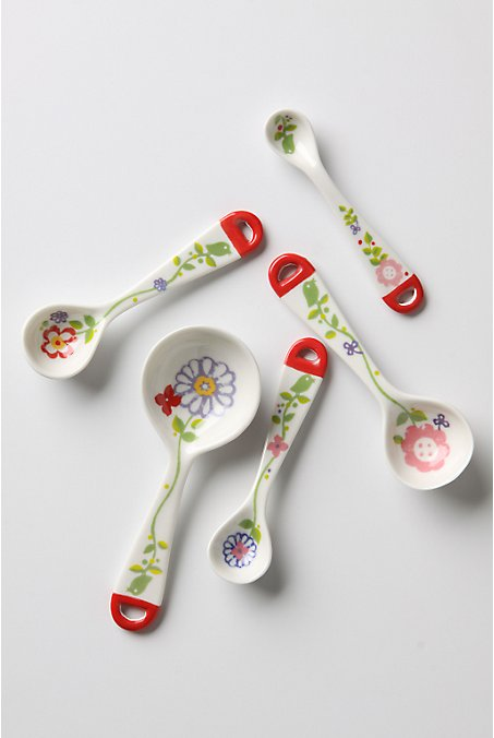 Baker's Bliss Measuring Spoons - Anthropologie.com :  cookware measuring spoons bakers anthropologie
