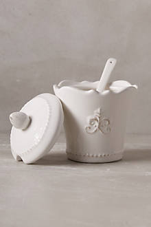 Fleur De Lys Sugar Pot