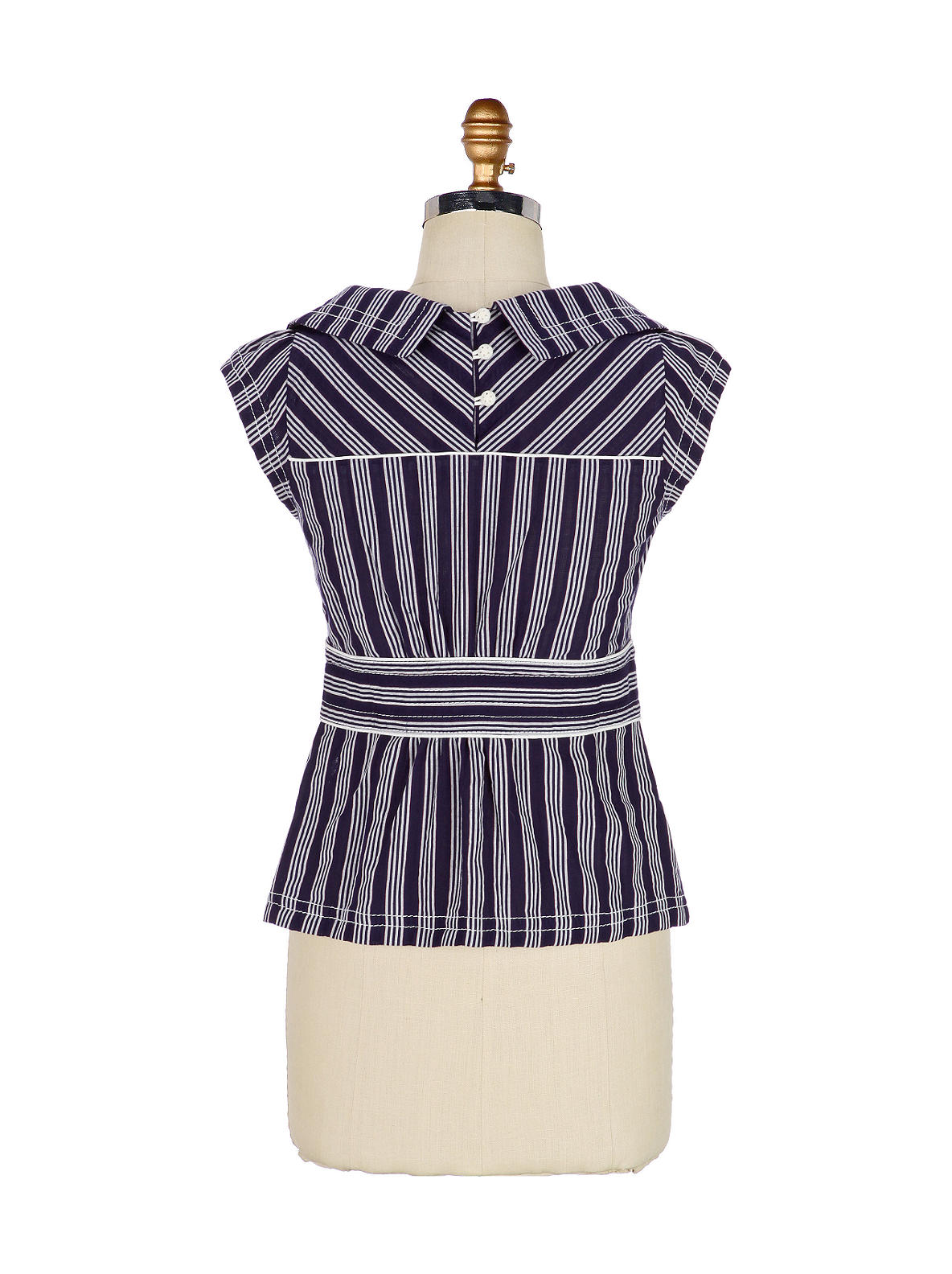 Meridian Blouse - Anthropologie.com :  striped back buttons sailor bodice