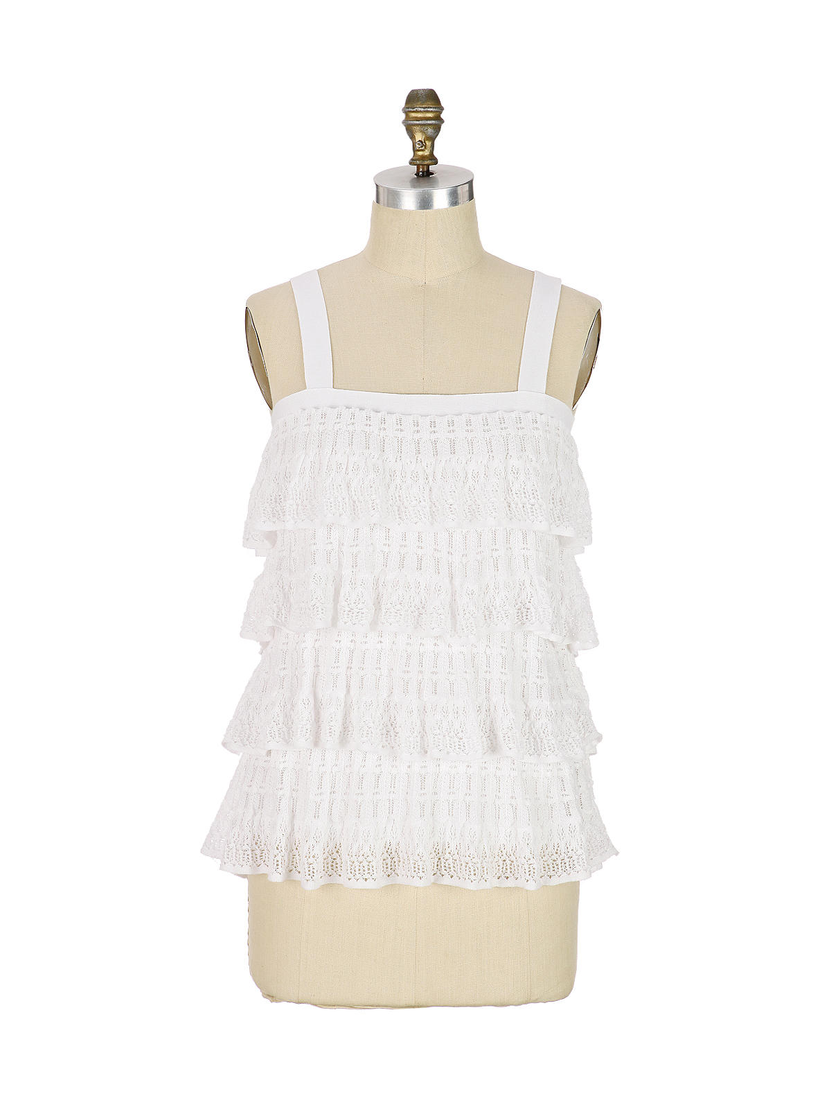 Pointelle Ruffle Tank - Anthropologie.com from anthropologie.com