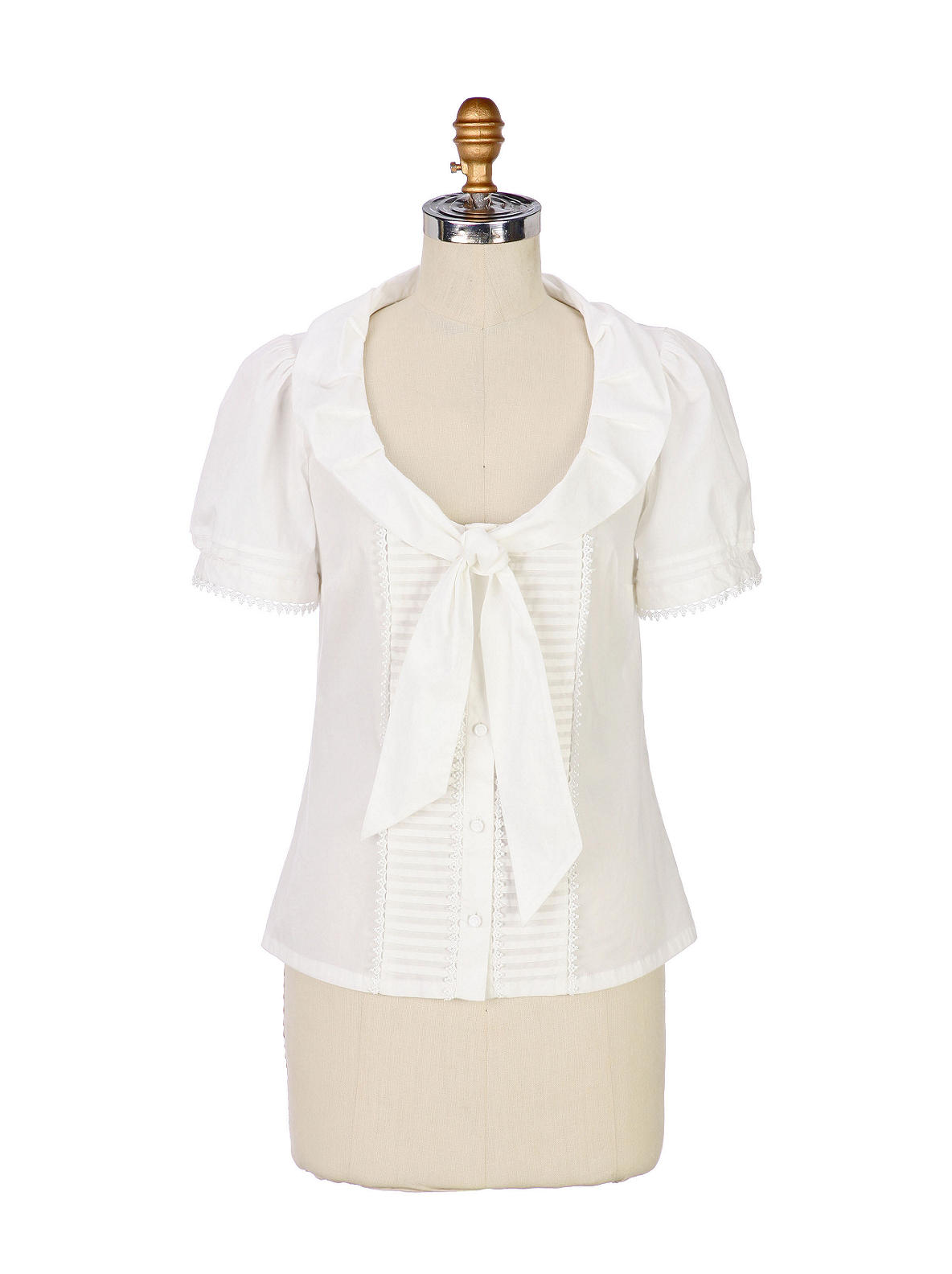 Flossie Blouse - Anthropologie.com :  short sleeves anthropologie odille tie neck