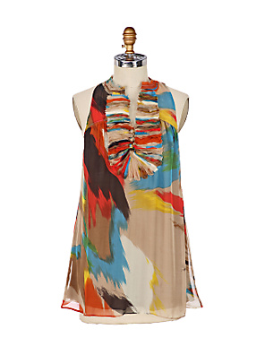 Chiffon Ruffle Tunic - Anthropologie.com :  blouse