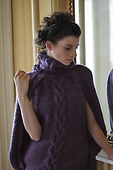 Cabled Sweater Cape