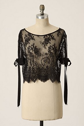 Floating Lace Blouse - Anthropologie.com :  blouse tie sleeves nylon lace
