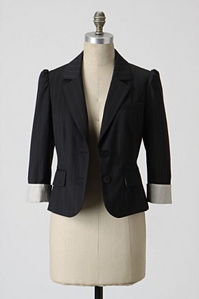 All Yours Blazer - Anthropologie.com :  button front shirred tailored menswear inspired