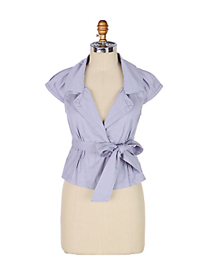 It's-A-Cinch Jacket - Anthropologie.com :  blue sash waist tie waist short sleeves
