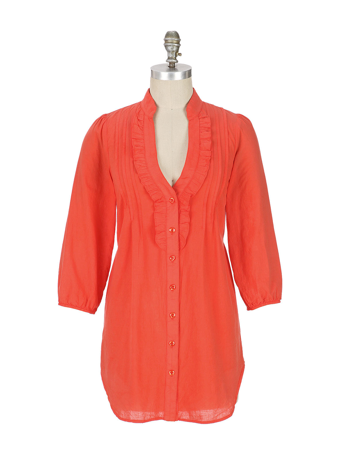 Side-By-Side Tunic - Anthropologie.com :  blouse odille pintucks long
