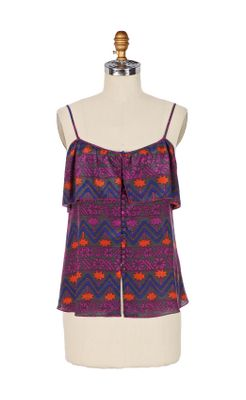 Nahuatl Tank - Anthropologie.com :  printed earthy tank native