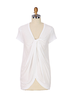 Hush-Hush Tee - Anthropologie.com :  basic fashion t-shirt white