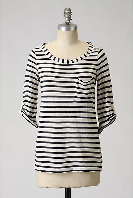 Splendid Deckside Scoopneck - Anthropologie.com :  striped tee stripes splendid tees nautical