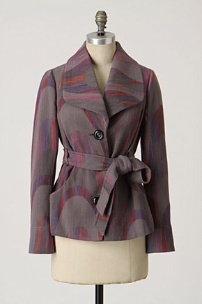 Jacquard Drape Jacket - Anthropologie.com :  fashion outerwear belted outerwear teens outerwear winter outwear