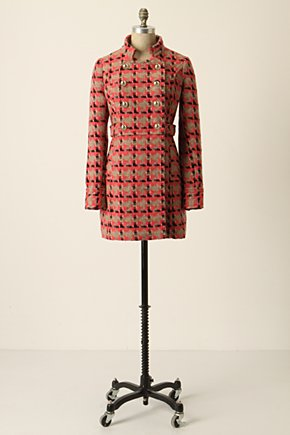 King's Road Coat - Anthropologie.com :  pink coat wooly side pockets