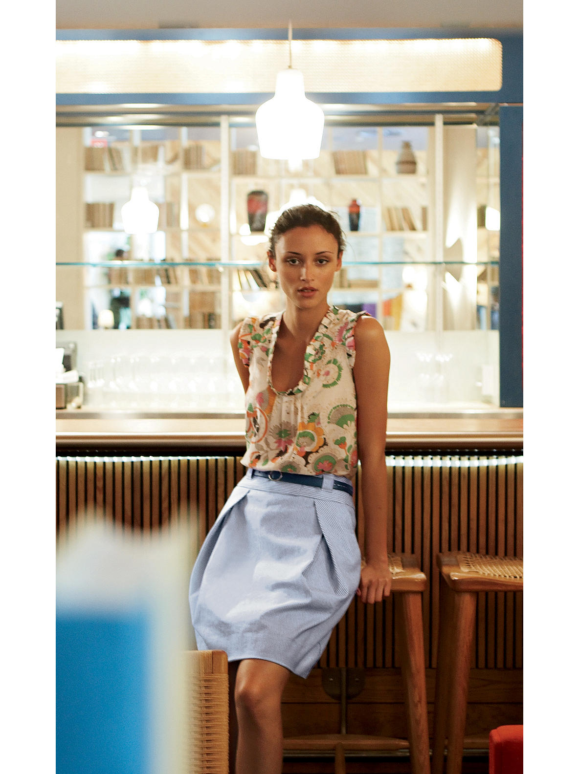 Sound Mooring Skirt - Anthropologie.com :  knee length pockets anthropologie pleats