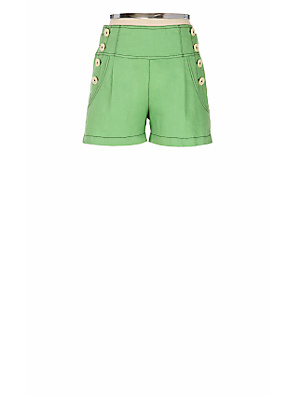 High Seas Short-Shorts - Anthropologie.com :  high waist fashion green shorts
