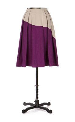 Diagonal Divide Skirt-Anthropologie.com