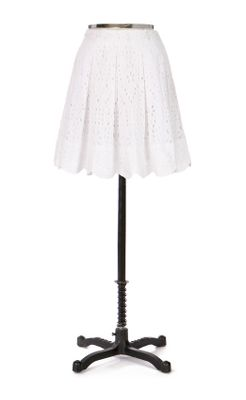 Grand Eyelet Skirt - Anthropologie.com :  eyelets cotton white cutout detail