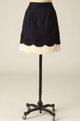 Scalloped Clouds Skirt - Anthropologie.com