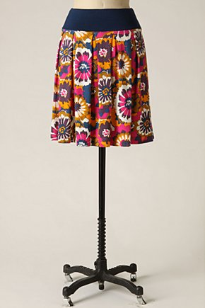 Harvest Hour Skirt - Anthropologie.com :  floral print magenta yellow plum