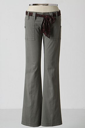 All-The-Days Pants - Anthropologie.com :  pants twill sash wide leg