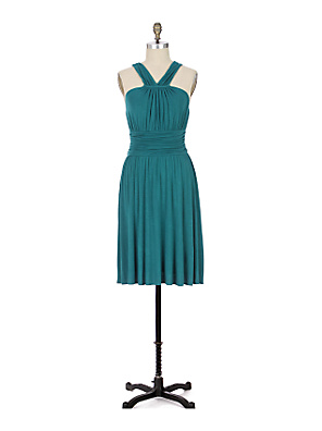 Cummerbund Halter Dress - Anthropologie.com :  cummerbund dress ruching draped