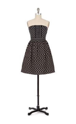 Zigzag Dress - Anthropologie.com :  classic strapless dress zigzag dress fashion mini dress