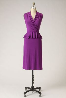 Plum Perfect Dress - Anthropologie.com :  frock peplum vneck dress