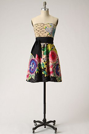 Painted Lotus Dress - Anthropologie.com :  floral frock asian inspired flouncy