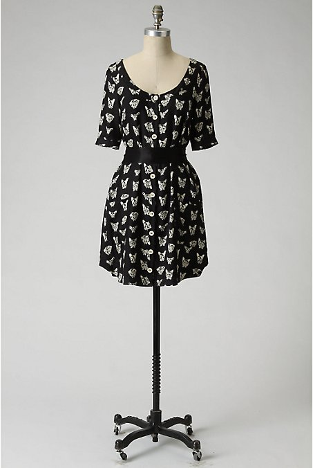 Cavorting Canines Dress - Anthropologie.com :  shirt dress printed dress dogs silk dress