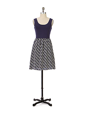 Fei - Well-Matched Dress - Anthropologie.com :  geometric print spandex clothing womens