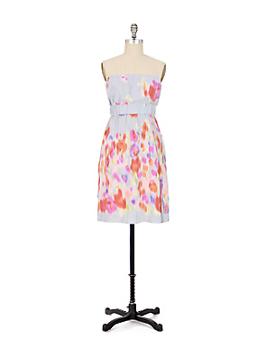 Rain Washed Dress - Anthropologie.com :  floral print silk purple red
