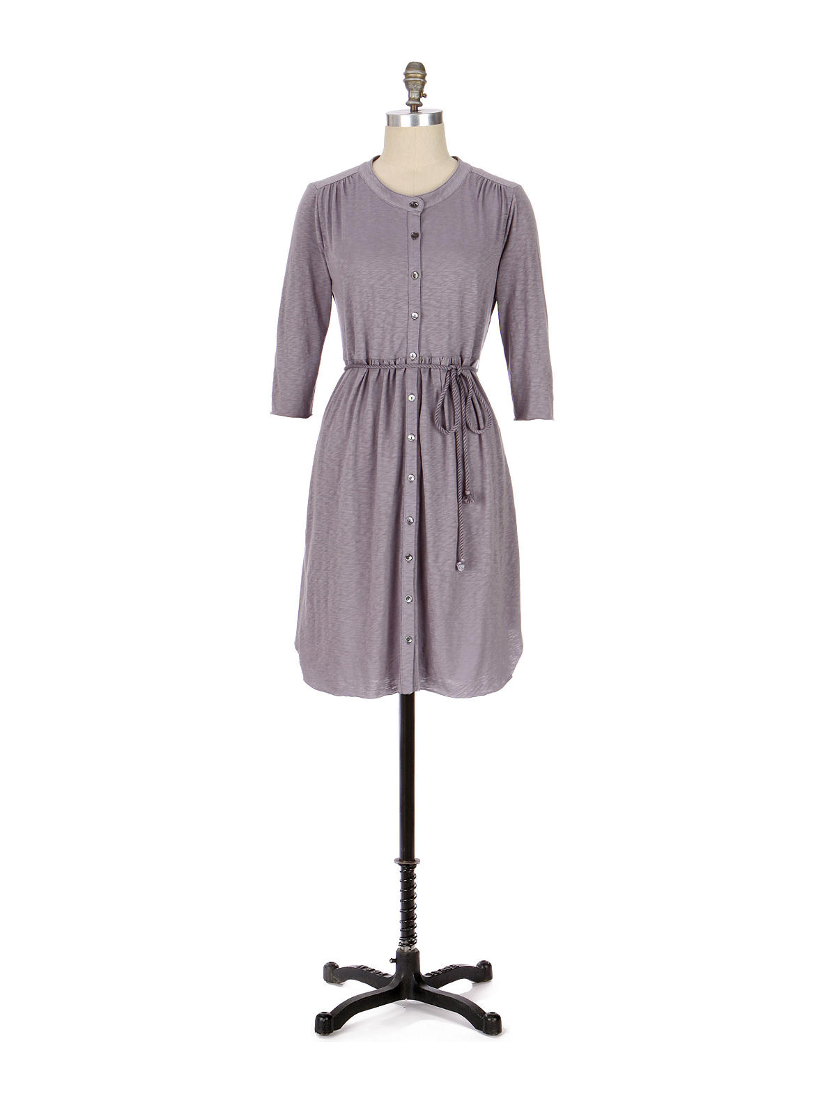 Day-In, Day-Out Dress - Anthropologie.com :  rope dress gathered slub