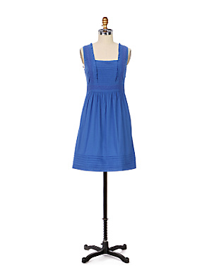 Esmee Dress - Anthropologie.com :  blue eyelet cotton dress