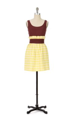 Texture Pairing Dress - Anthropologie.com :  linen sleeveless dress yellow