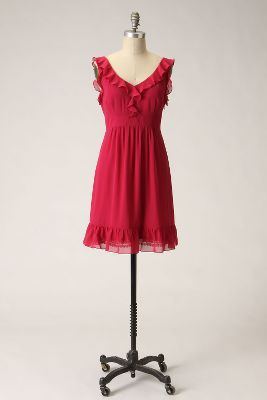 Framboise Souffle Dress - Anthropologie.com :  pink frock silk ruffles
