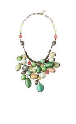 Raffia Bauble Necklace - Anthropologie.com :  anthropologie