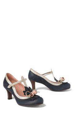 Budding T-Straps - Anthropologie.com :  midheel tstrap retro heels