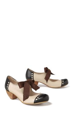 Scarf-Tied Oxfords - Anthropologie.com :  midheel heels shoes mary jane